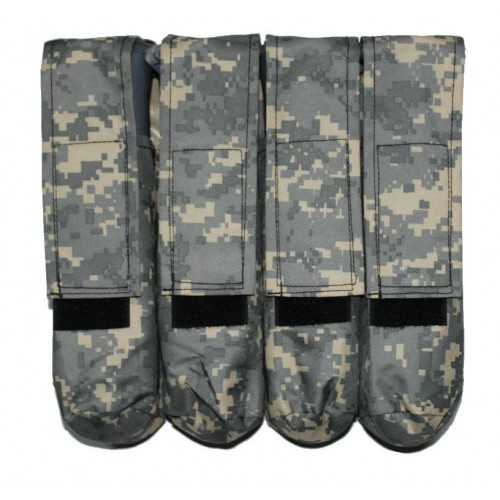 4 Pot Paintball Molle Battlepack ACU Digital Grey