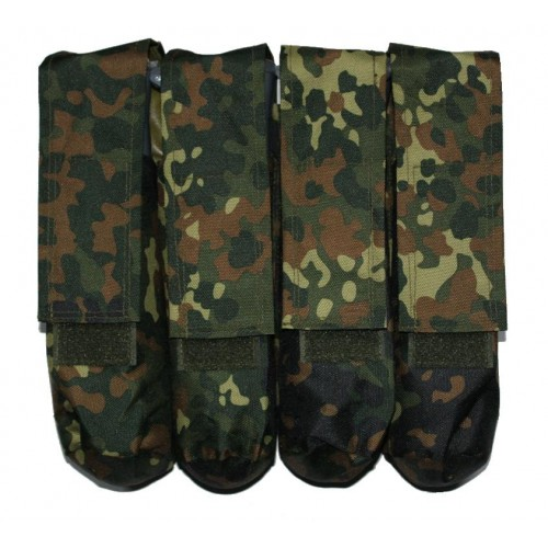 4 Pot Paintball Molle Battlepack Flecktarn