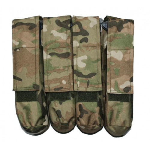 4 Pot Paintball Molle Battlepack MultiCam