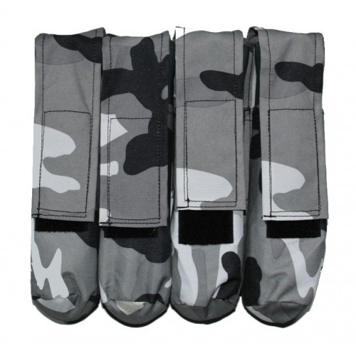 4 Pot Paintball Molle Battlepack Urban Camo