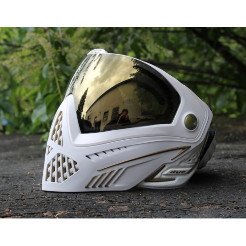DYE I5 Thermal Paintball Maske (weiß/gold)