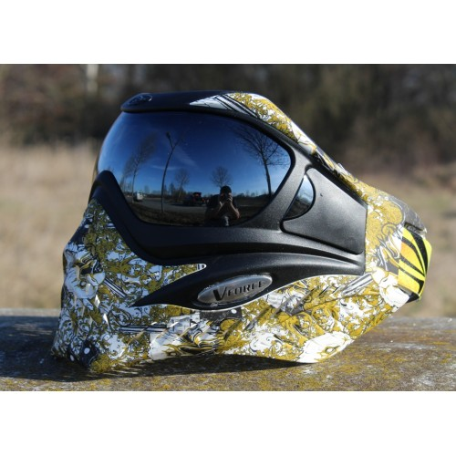 "VForce Grill ""Eagle Eye Gold"" HDR Thermal Paintball Maske"
