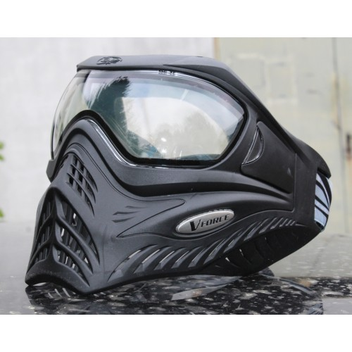 "VForce Grill ""Shadow"" Schwarz Thermal Clear Paintball Maske"