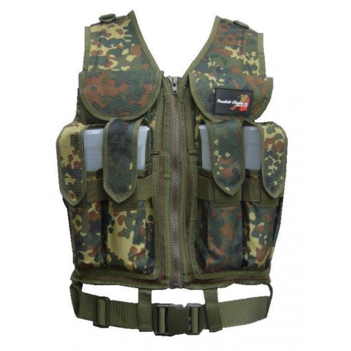 Paintball Tactical Weste Flecktarn